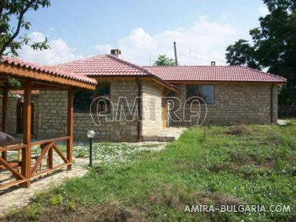 House in traditional Bulgarian style garden